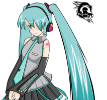 Hatsune Miku animated vector by DensetsuShinobi