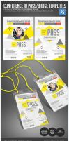 Conference Expo Corporate Pass ID Badge by ShermanJackson