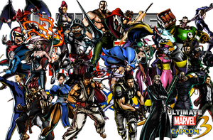 UMVC3 Wallpaper Team Capcom by Hotfeet444