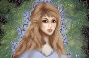 Girl With Leaves 2 by thepurpleorchid1