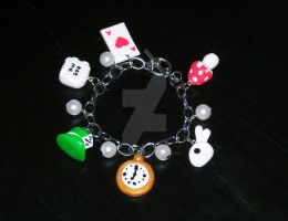 Alice in Wonderland bracelet by crafting-Farah
