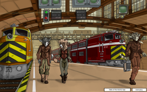 Tales of the Atomic Age : The Train Station by dan338
