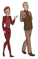 Kira Nerys and Odo by AlyssaWiggen