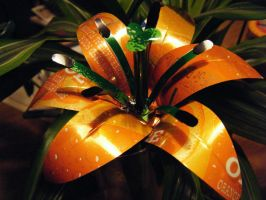 Recycled Pop Can Orange Lily2 by Christine-Eige