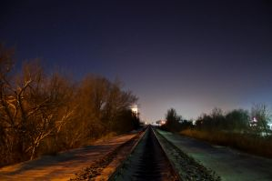 The Icy Tracks of Winter by Bvilleweatherman