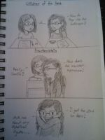Sketches: Me and My Friend In English Class by Millie-Rose13