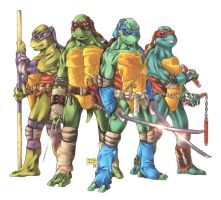 TMNT: Deluxe Four by Lady-Valiant