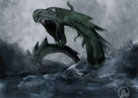 Water Serpent by sinisterkat