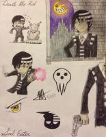 Soul Eater - Death the Kid collage thing by MNS-Prime-21