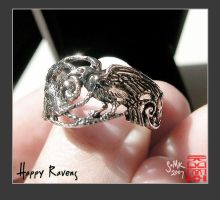 Happy Crows ring by somk