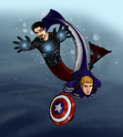 Merpeople, Steve and Tony by mmshoe