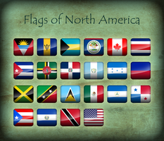 Flags of North America - Icons by Kristo1594