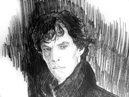 Benedict Cumberbatch as Sherlock by filmshirley