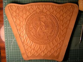 Leathercraft-Archery Bracer_1 by addichim