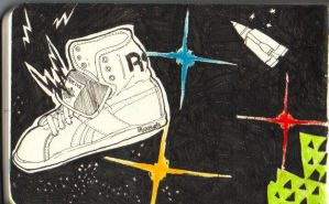 reeboks in space by vintageisclassic