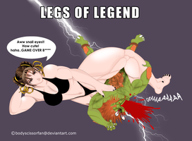 Chun Li vs Blanka by bodyscissorfan