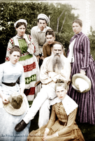 Tolstoy with family by olgasha