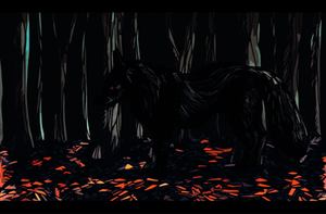 Lone wolf by DancingfoxesLF