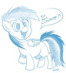 Baby Rainbow Dash Sketch by TheStripedKit