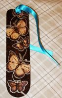 Pyrography Butterfly bookmark by BumbleBeeFairy