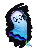 Napstablook by Quasaryote