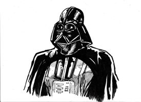 Darth Vader A4 - quick sketch. by IgorChakal