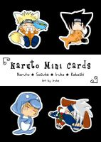 Naruto mini card set by Sakachan