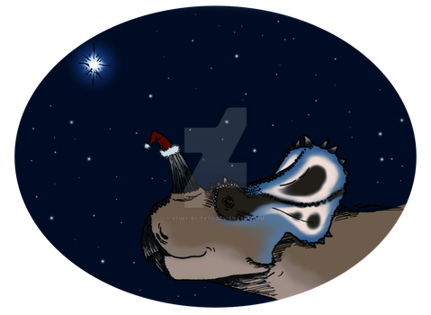 Merry... Centrosaurus? by Stuff-by-Tyto