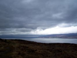 Kintyre05-Rain in the east by Axy-stock