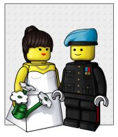 lego bride and groom  -  commission by nightwing1975