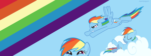 Rainbow Dash Facebook Timeline Cover by AdamKaragoshi
