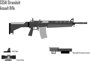 S35A2 Strassbolt Mainline Service Assault Rifle by Target21