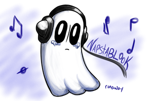 Napstablook by Geli-K
