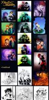 70 days of doodles -  Xiaolin summary by Blookarot