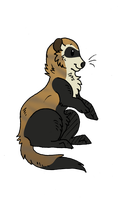 Black Footed Ferret by Mezia