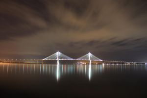 cooper river bridge by aleliaw