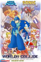 Sonic/Megaman Crossover Poster by RocketSonic