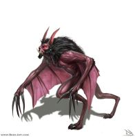 Bat creature concept by RogierB