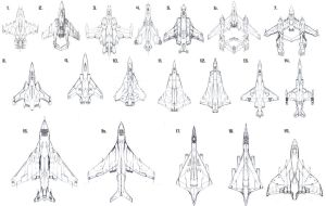 Space Fighter Design Montage by PrinzEugn