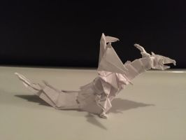 Origami fiery dragon (Kade Chan) by Brickgenius27