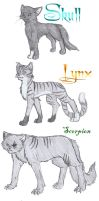 TDOF cat collection 1 by Nova-Nocturne