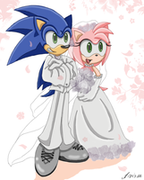 SonAmy Wedding Day: In color by ArisuAmyFan