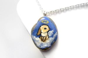 Bunny Rabbit Pendant Necklace by sobeyondthis