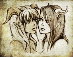 Shaa and Vee - sisters by Reliah