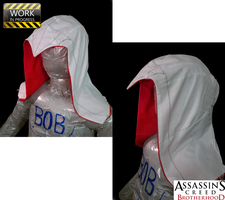 AC:Brotherhood Costume - Hood (WIP) by Buler2017