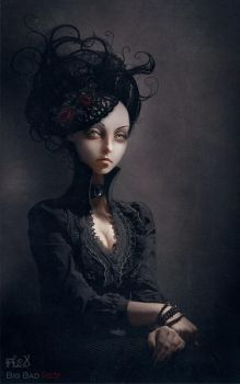 Gothic Portraits: Leanor by BigBad-Red