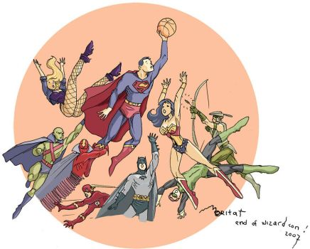 JLA basketball by moritat