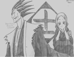 Bleach: Kenpachi and Yachiru by BryanChalas