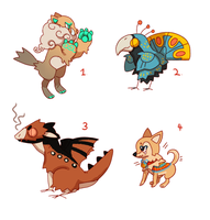 Assorted Adopts  2 (Points Accepted ) CLOSED by Kel-Del