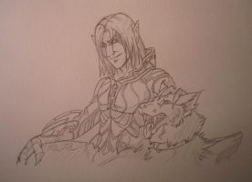 Aion assassin and worg by Karrakas